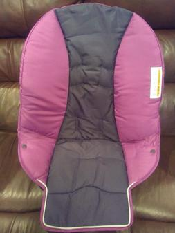 Editorial Pick New Graco Duodiner High Chair Seat Pad Cushion Pink Brown Tu