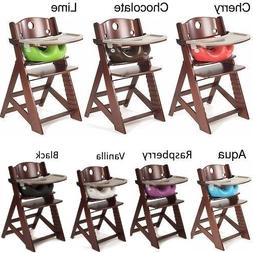 NEW Height Right Mahogany High Chair with Infant Insert and