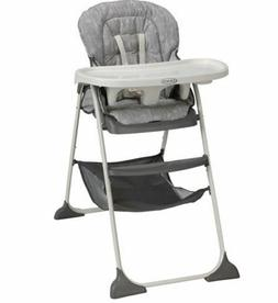 NEW Graco Slim Snacker Fast-Folding High Chair, Whisk