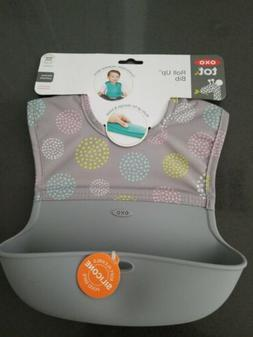 NEW OXO Tot Waterproof Silicone Roll Up Bib with Comfort-Fit