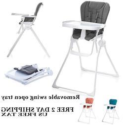 JOOVY Nook High Chair, swing open tray, standing fold Non-sc