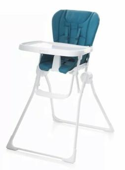 Joovy Nook TURQUOISE Compact Fold Child High Chair Huge Tray