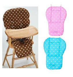 Pink Blue Polka Dot Cushion Pad Mat Seat Liner Cover For Cos