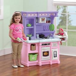 Play Kitchen Pink And Purple Cooking Play Set Stove Sink Acc