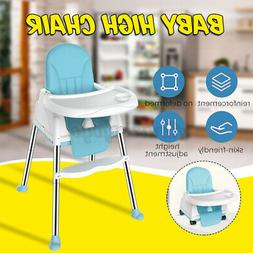 Portable Foldable Kids Baby High Chair 6 - 36 Months W/ Whee