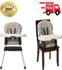 Portable High Chair 3 Position Reclining Machine Washable Se