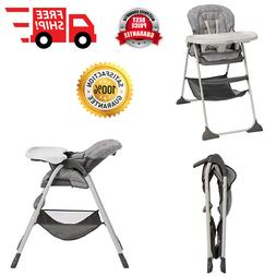 Portable High Chair Easy Clean Seat Pad 3 Recline Positions