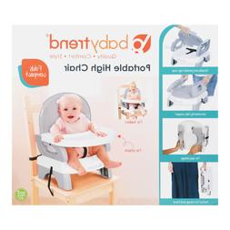 Baby Trend Portable High Chair, Ice Gray