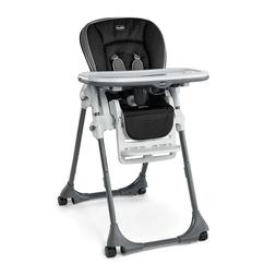 CHICCO PORTABLE HIGH Chair Model Orion Gray And Black 40 Lbs