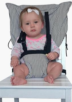 Portable Travel High Chair Safety Washable Cloth Harness