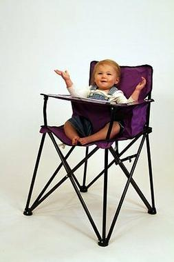 Purple Folding Portable Travel High Chair Camping Chair * vi