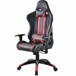 Costway Racing High Back Reclining Gaming Chair Ergonomic Co