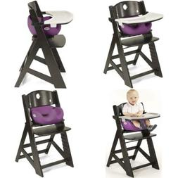 Keekaroo Height Right High Chair Espresso with Raspberry Inf