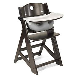 Height Right HIGH Chair Espresso with Grey Infant Insert and