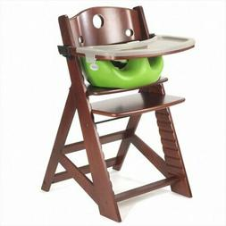 Height Right High Chair in Mahogany with Infant Insert with