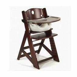 Keekaroo Height Right High Chair Mahogany with Infant Insert