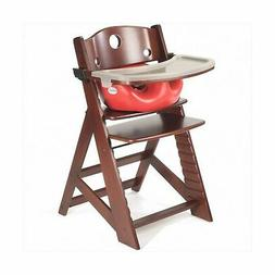 Height Right HIGH Chair Natural with Grey Infant Insert and