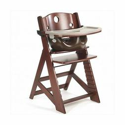 Keekaroo Height Right Highchair with Insert & Tray - Chocola