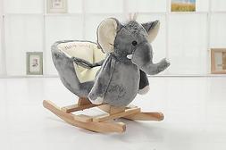 DanyBaby Rocking Animal Ride On Rocking Plush Elephant Chair