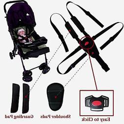 Seat Belt by AT,5/3/2 Point Adjustable for Baby Kid Safe Str