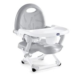 Seat Booster Chair Gray Baby High Toddler Portable Infant Fo
