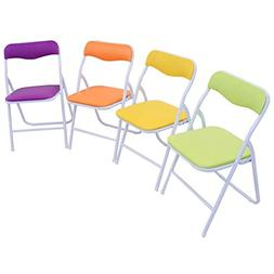 Set of 5 Multicolor Kids Table and Chairs Dining Playing Chi