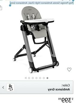 Peg Perego Siesta Ambiance High Chair, Ambiance Grey
