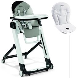 Peg Perego Siesta High Chair With Peg Perego Booster Cushion