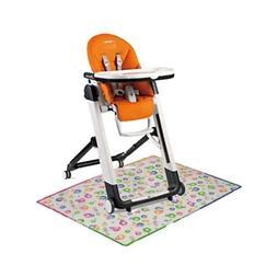 siesta high chair with splat matt arancia