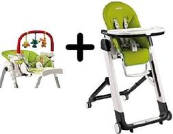 Peg Perego Siesta Highchair, Mela + Peg Perego High Chair Pl