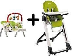 Peg Perego Siesta Highchair, Mela + Peg Perego High Chair Pl