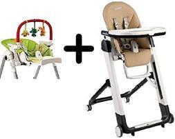 Peg Perego Siesta Highchair, Noce + Peg Perego High Chair Pl