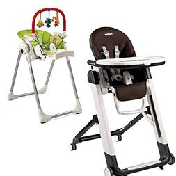 Peg Perego Siesta Highchair w Peg Perego High Chair Play Bar