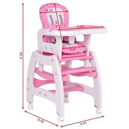 Silla De Bebe Costway Kids High Chair For Baby Girl Booster