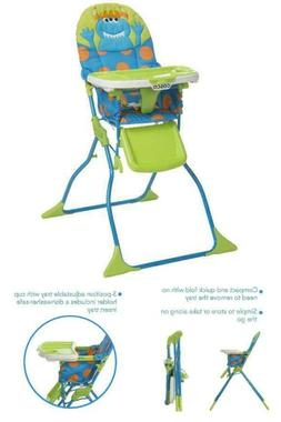 Cosco Simple Fold Deluxe High Chair with 3-Position Tray - M