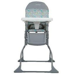 Simple Fold Full Size High Chair Light Weight Leg Rest Adjus