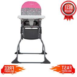 Simple Fold Full Size High Chair with Adjustable Tray, Built