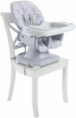 Fisher-Price SpaceSaver High Chair, Grey Floral