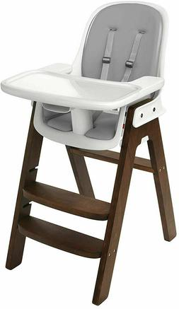 OXO Tot Sprout Chair with Tray Cover, Gray and Walnut