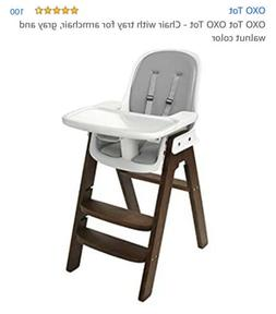 OXO Tot Sprout Wood HighChair Chair w/ Tray & Padded Seat Co
