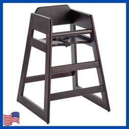 Stacking Restaurant Style Wooden High Chair For Baby Toddler