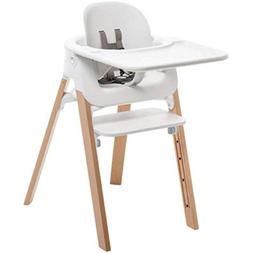 Stokke Steps Bundle, Baby Set, Seat, Tray - White, Legs - Na