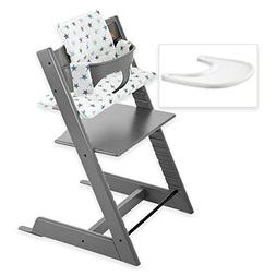 Stokke Tripp Trapp High Chair Complete Bundle in Storm Grey