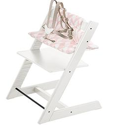 Stokke Tripp Trapp Highchair & Tripp Trapp Cushion Pink Chev
