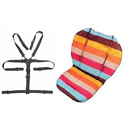 Twoworld Baby Stroller/Car / High Chair Seat Cushion Liner M