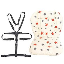Twoworld Baby Stroller/High Chair Seat Cushion Liner Mat Pad