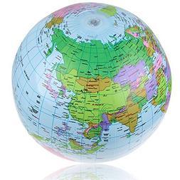 Swimming - 40cm Inflatable World Globe Map Balloon Beach Bal