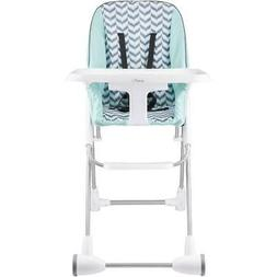 Symmetry Flat Fold High Chair, Spearmint Spree, Evenflo