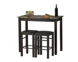 Linon Home Decor Products, Inc. Tavern 3-Piece Set, Espresso