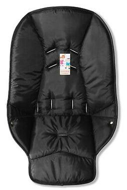 The black seat pad cover for high chair Graco DuoDiner